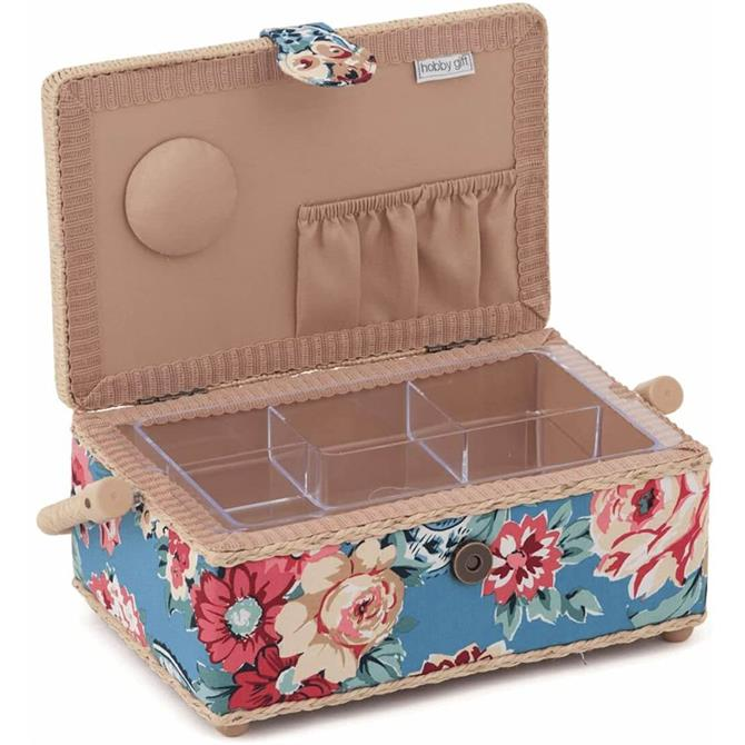 Groves Small Kashmir Rose Sewing Box