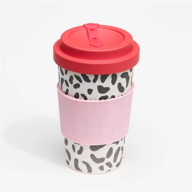 Caroline Gardner Leopard Print Eco Bamboo Coffee Cup