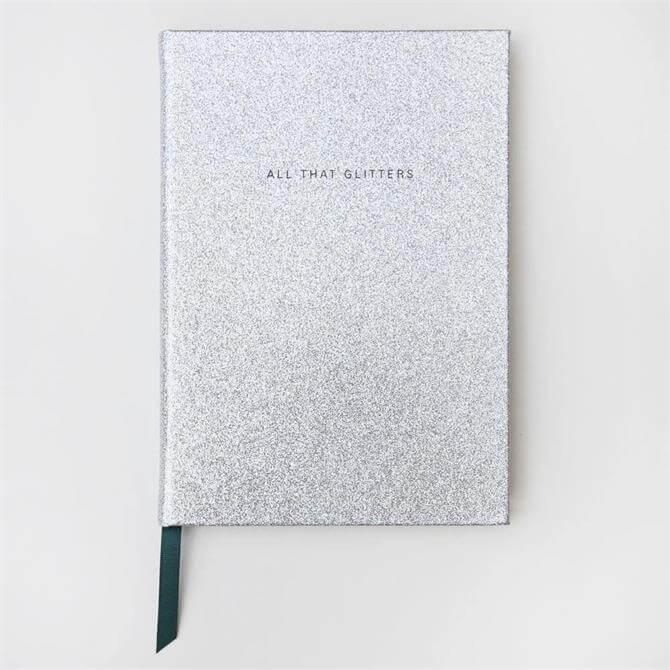 Silver Glitter Large Hardback Notebook