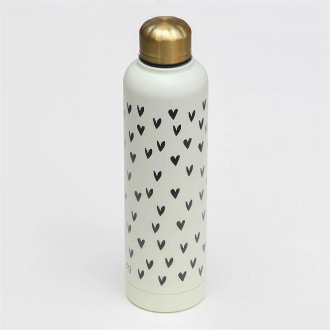 Caroline Gardner Hearts Metal Water Bottle
