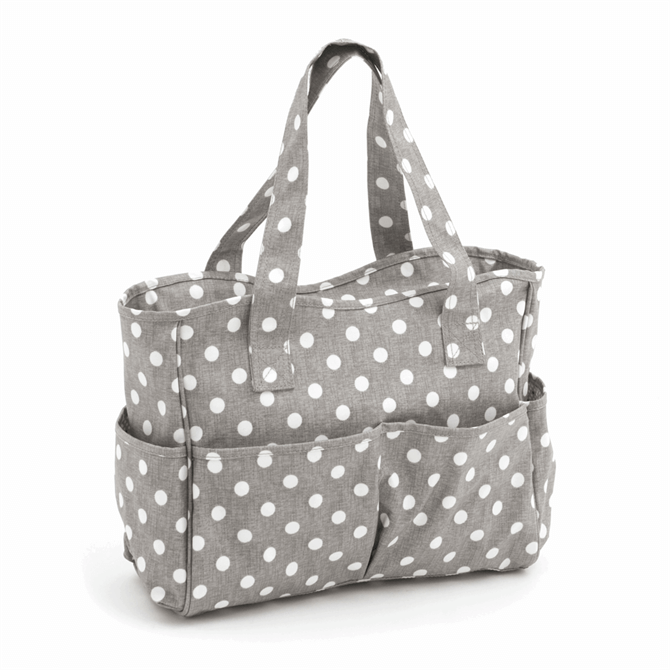 Groves - Grey Polka Dot Bag
