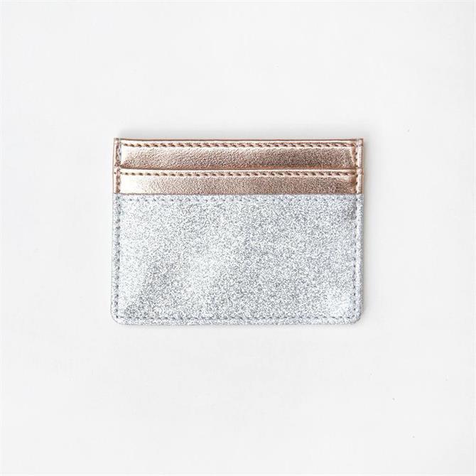 Caroline Gardner Silver Glitter Travel Card Holder