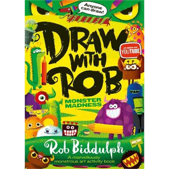 Draw With Rob: Monster Madness (Paperback) - Rob Biddulph