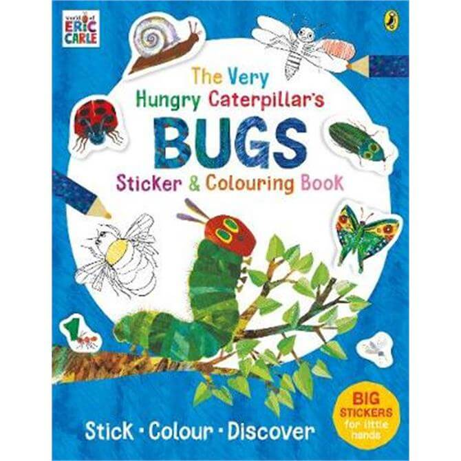 The Very Hungry Caterpillar's Bugs Sticker and Colouring Book (Paperback) - Eric Carle