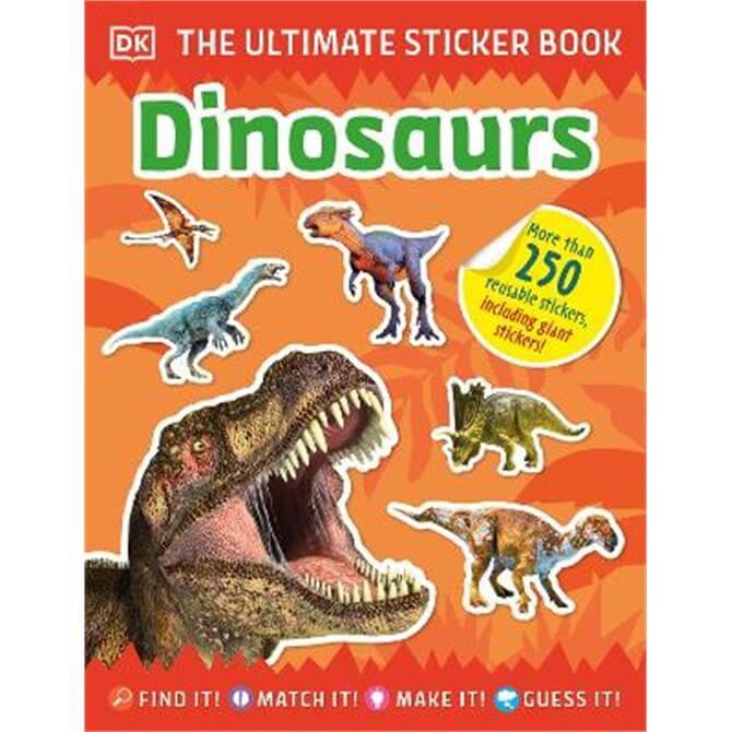 Ultimate Sticker Book Dinosaurs (Paperback) - DK