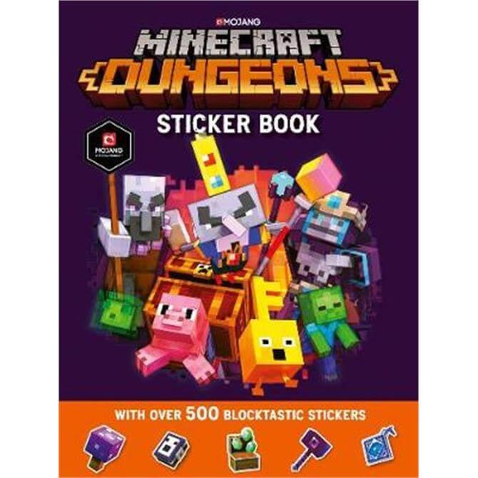 Minecraft Dungeons Sticker Book (Paperback) - Mojang