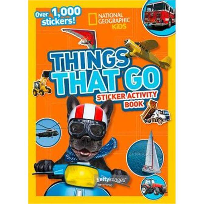 Things That Go Sticker Activity Book (Paperback) - National Geographic Kids