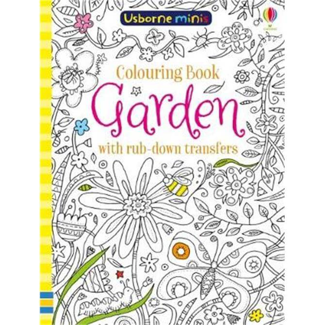 Colouring Book Garden with Rub Down Transfers (Paperback) - Sam Smith