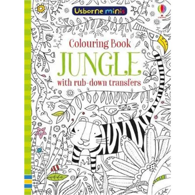 Colouring Book Jungle with Rub Down Transfers (Paperback) - Sam Smith