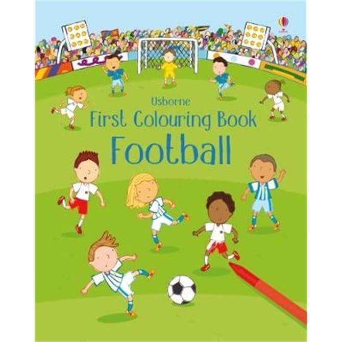 First Colouring Book Football (Paperback) - Sam Taplin