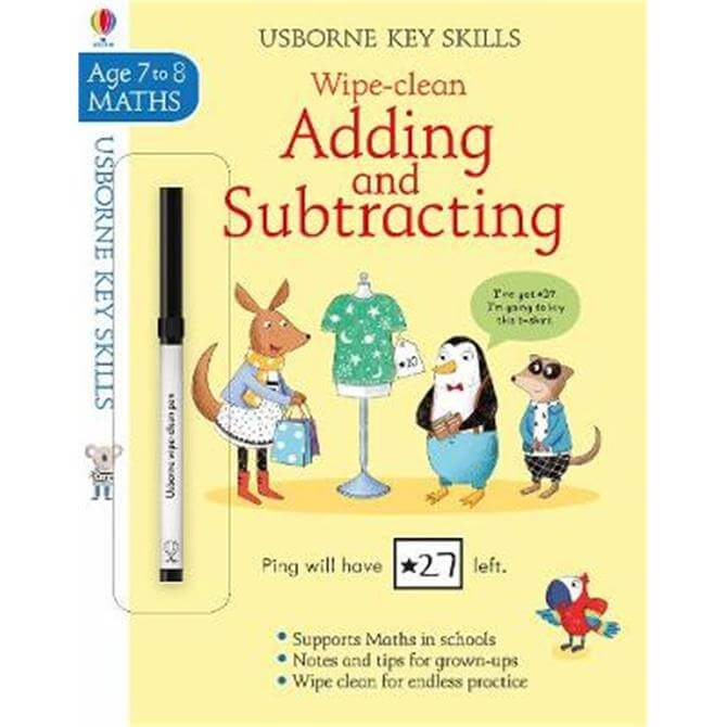 Wipe-Clean Adding and Subtracting 7-8 (Paperback) - Holly Bathie