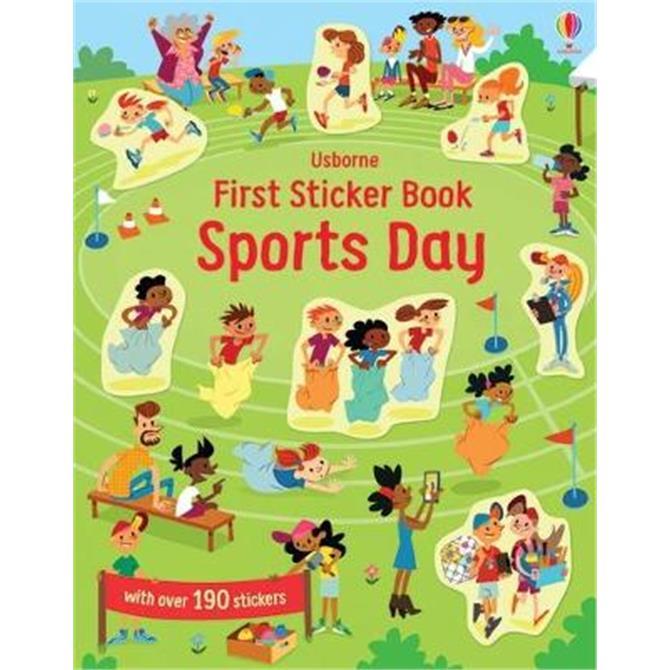 First Sticker Book Sports Day (Paperback) - Jessica Greenwell