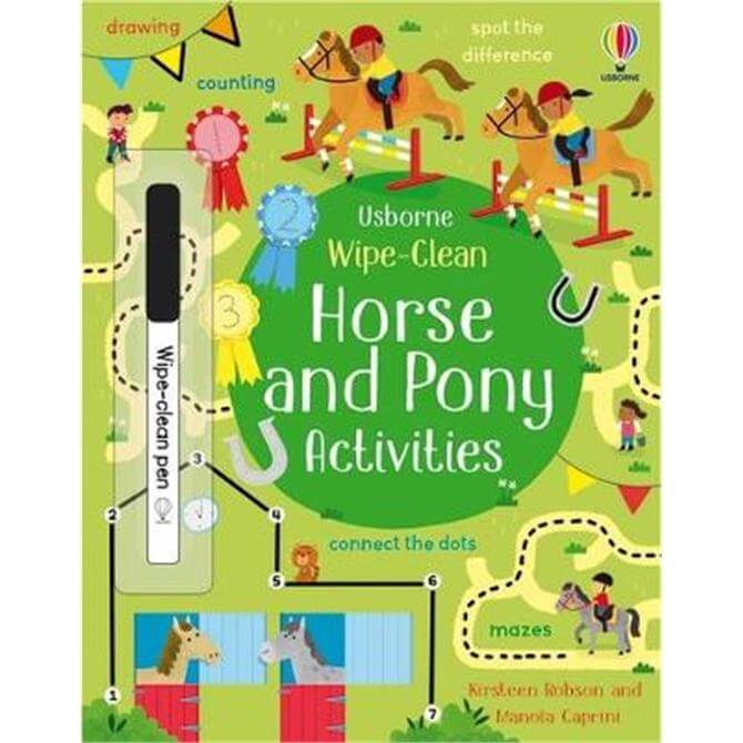 Wipe-Clean Horse and Pony Activities (Paperback) - Kirsteen Robson