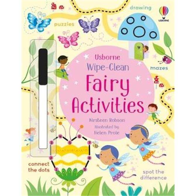 Wipe-Clean Fairy Activities (Paperback) - Kirsteen Robson