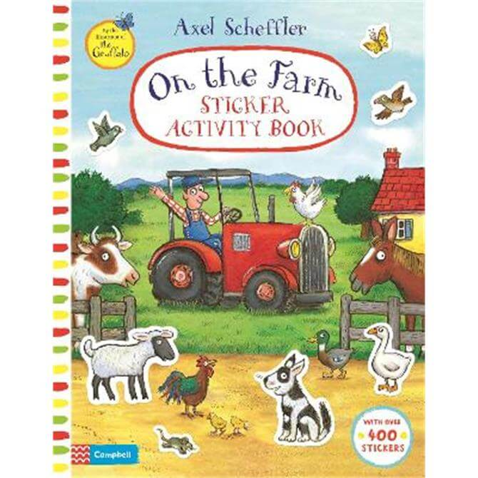 On The Farm Sticker Activity Book (Paperback) - Campbell Books