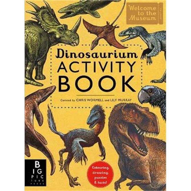 Dinosaurium Activity Book (Paperback) - Chris Wormell