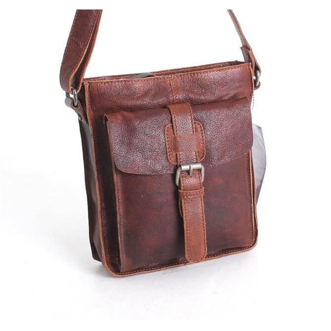 Fonz Leather Across Body Bag