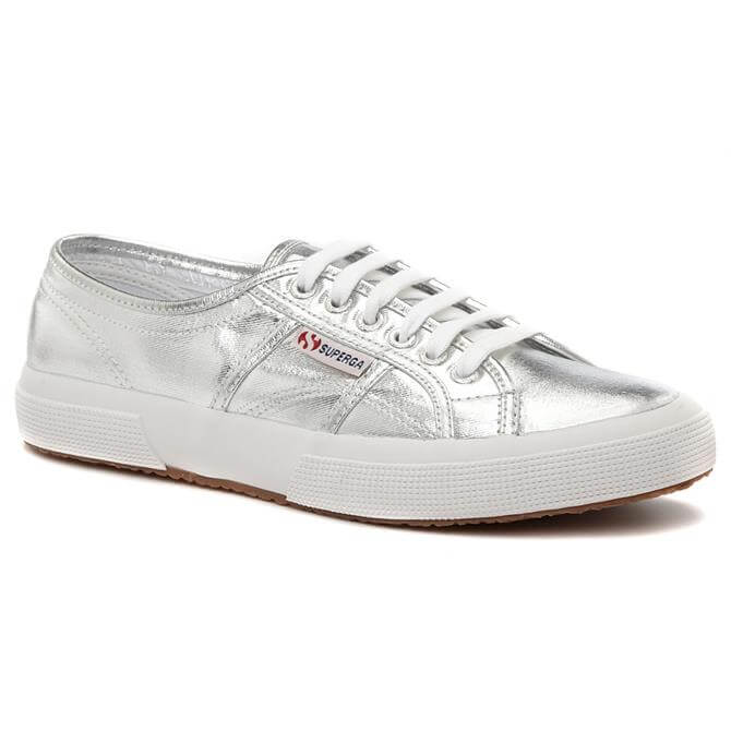 Superga Cotu 2750 Metallic Silver Cotton Shoe