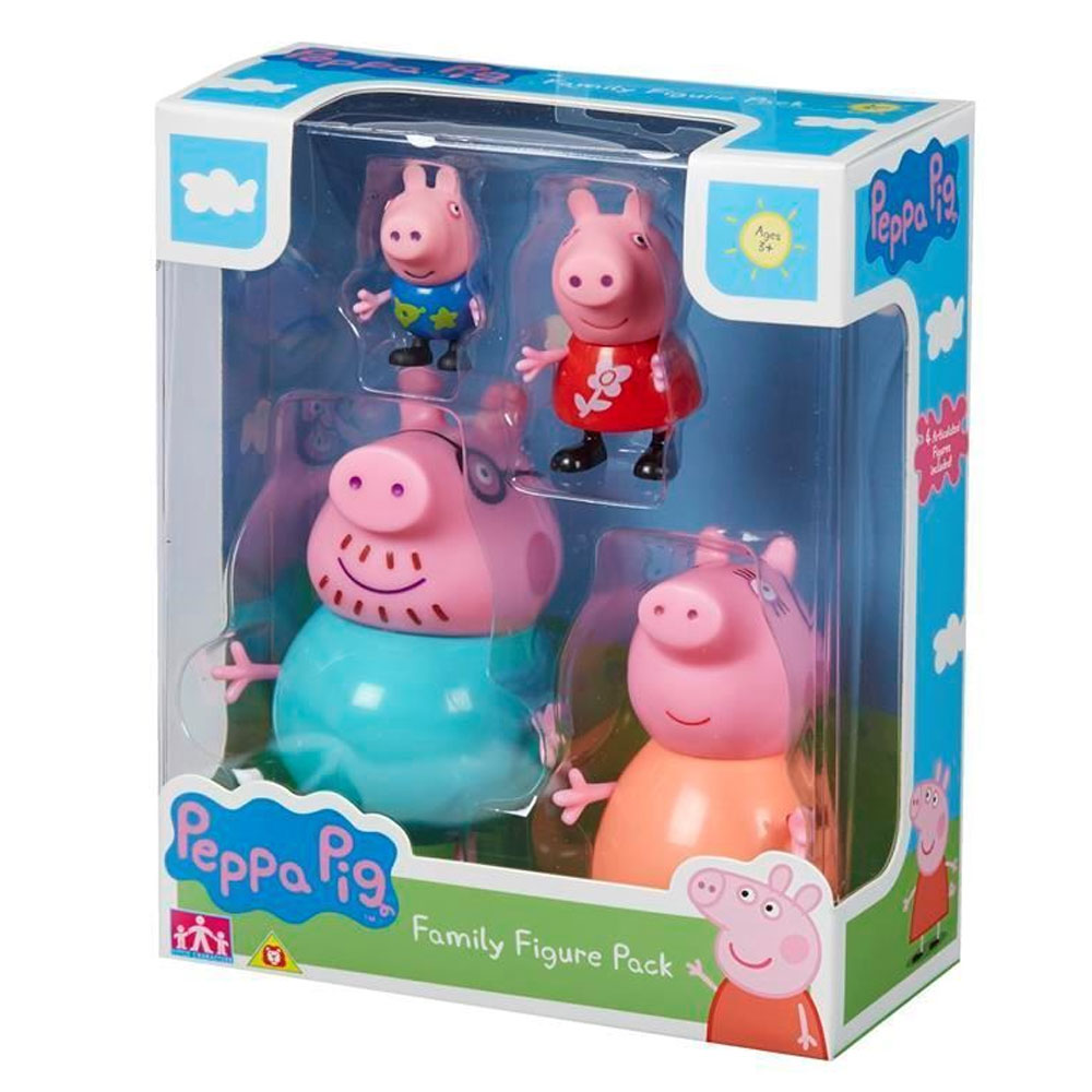 An image of Peppa Pig Family Figure Pack