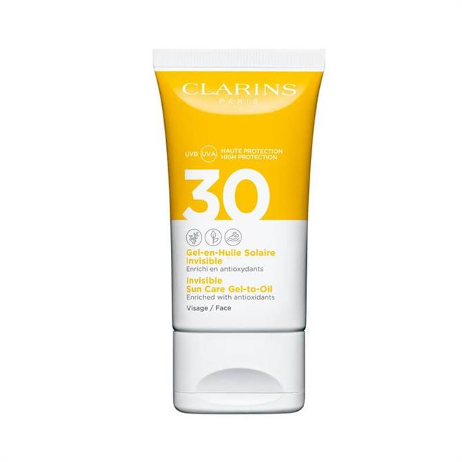 Clarins Invisible Sun Care Gel-To-Oil UVB/UVA 30 for Face 50ml