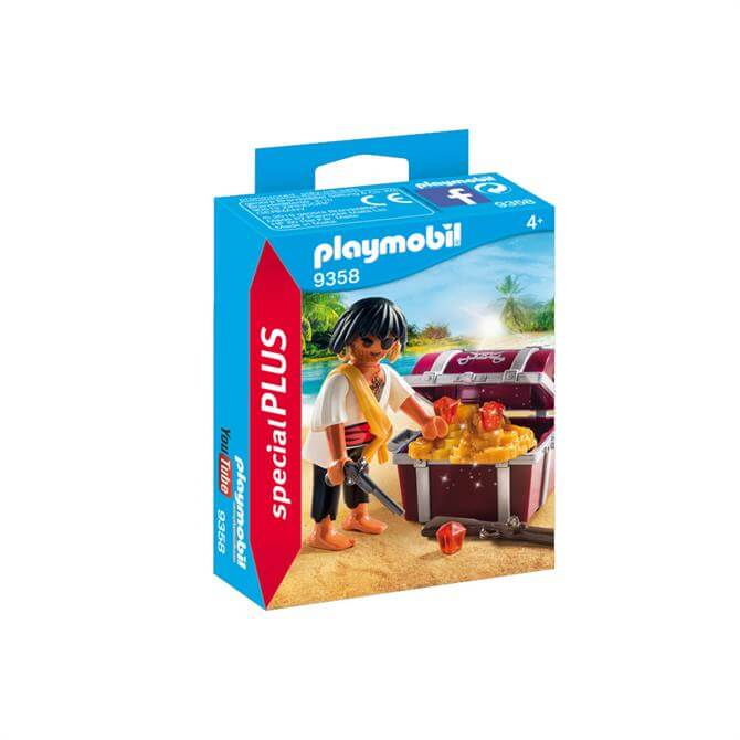 Playmobil Pirate with Treasure Chest 9358