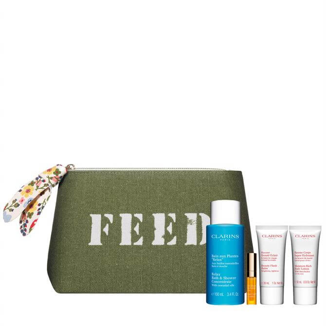 Clarins Free Beauty Pouch, worth £42.00 when you purchase two Clarins products, one to be skin care