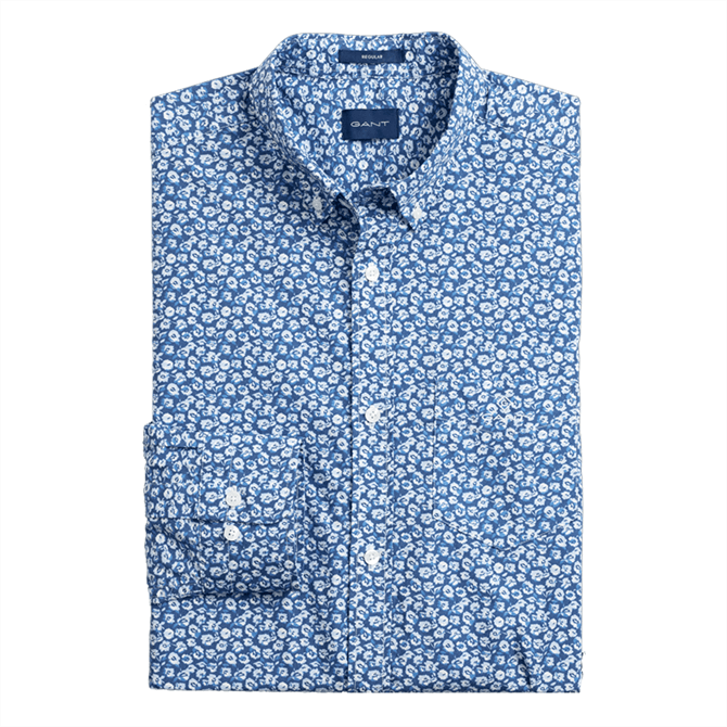 GANT Regular Fit Micro Floral Print Shirt