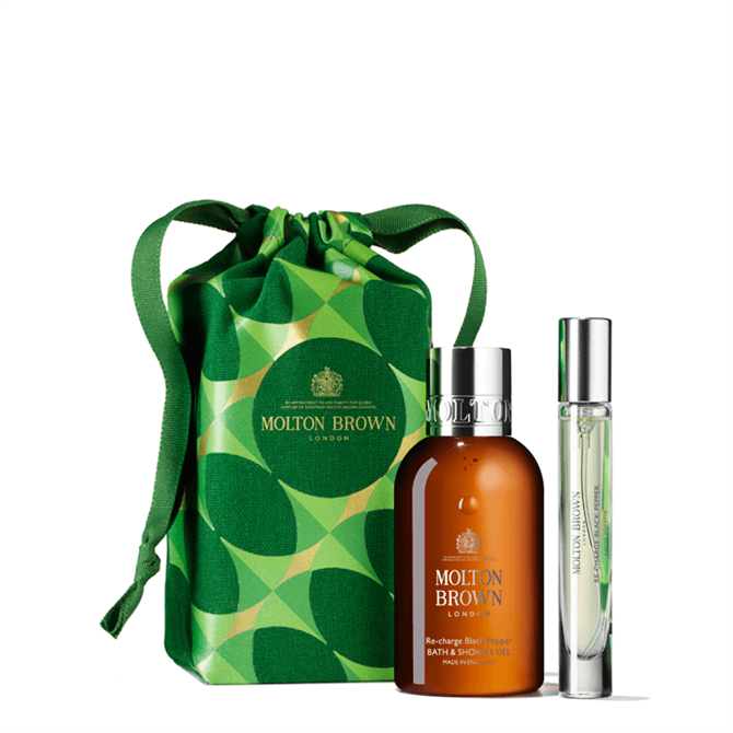 Receive a limited edition cosmetic bag and two Re-charge Black Pepper luxury miniatures with a purchase of £90