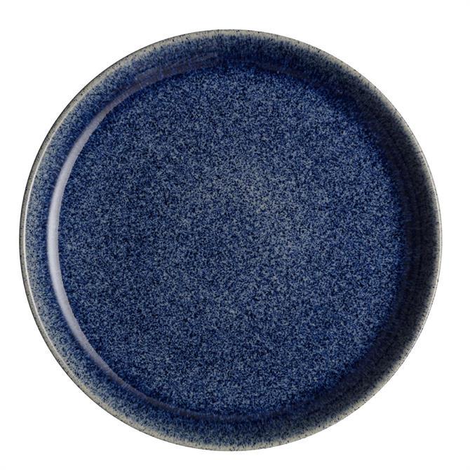 Denby Studio Blue Coupe Dinner Plate: Cobalt Blue