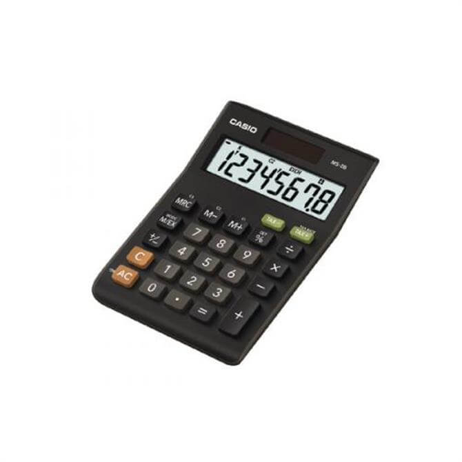 Casio 8 digit Tax and Currency Calculator Black MS 8B