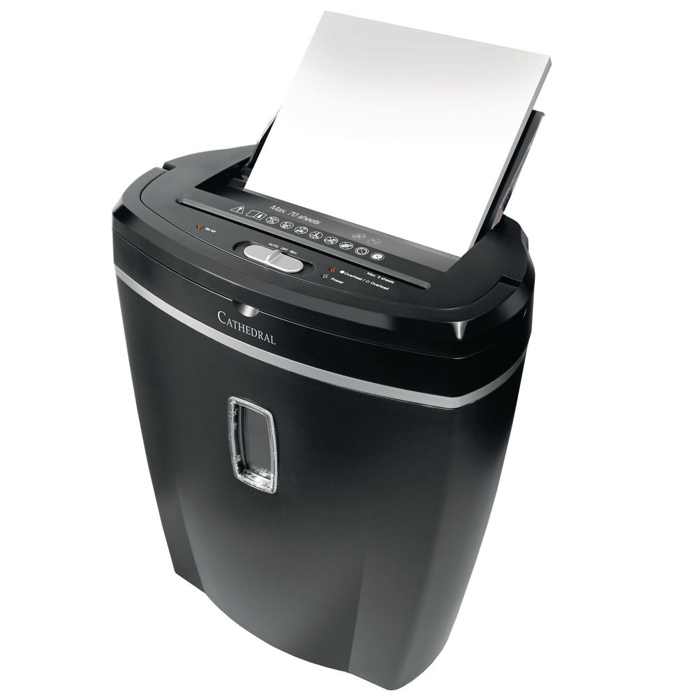 An image of Cathedral 70 Sheet Auto Feed Cross Cut Shredder