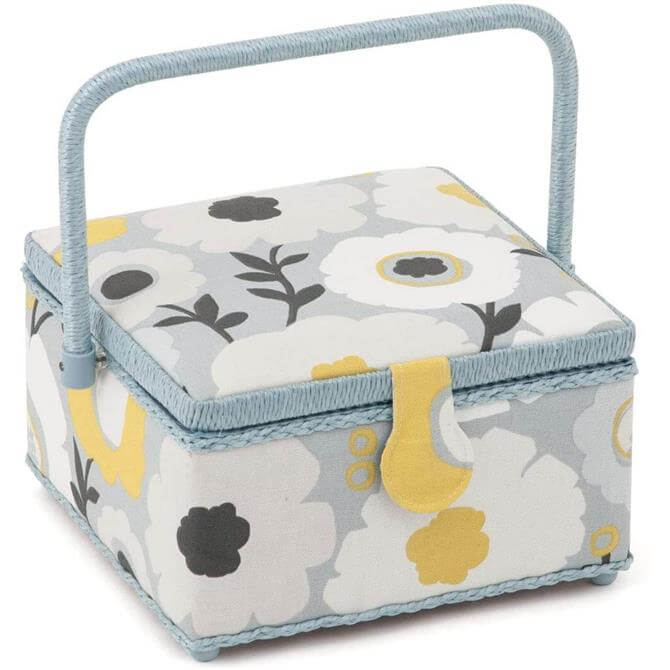 Groves Floral Square Sewing Box Medium