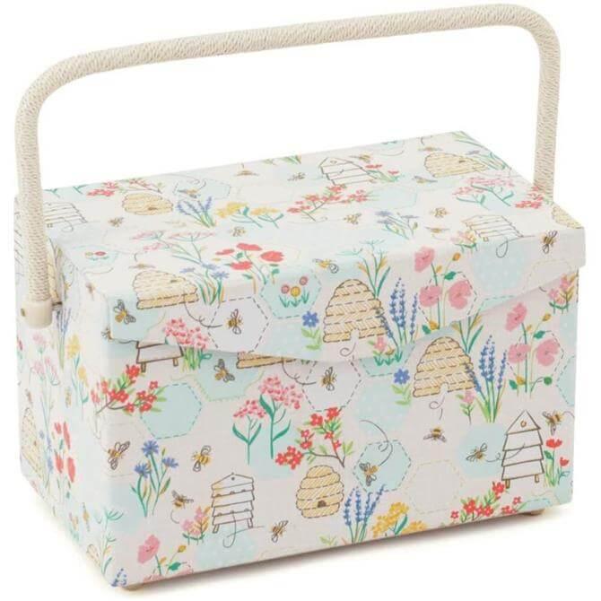 Hobby Gift Sewing Basket Medium 'Sewing Bee' Design