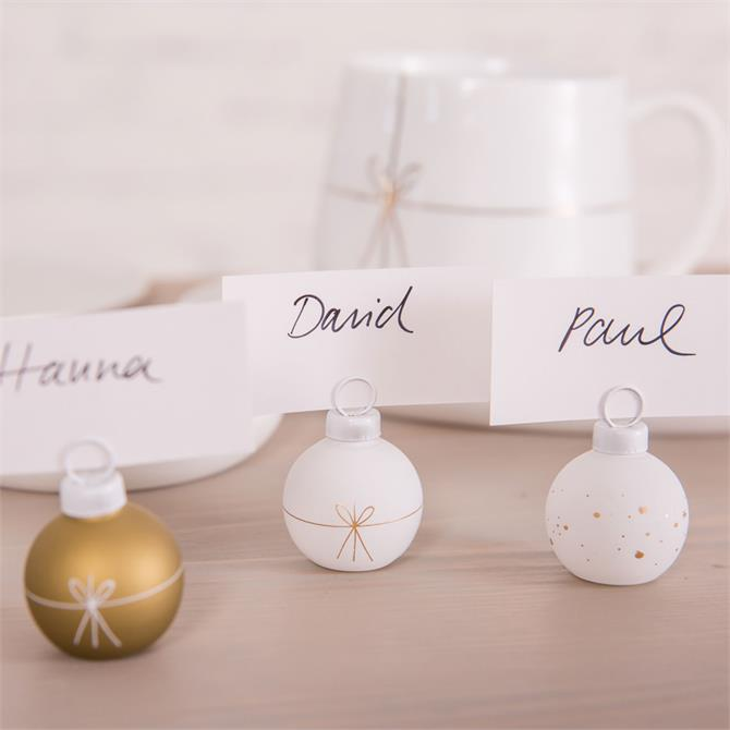 Rader Bauble Table Place Card Holder Pack 6