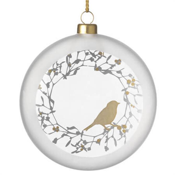 Rader Frost Medallion Bird Bauble