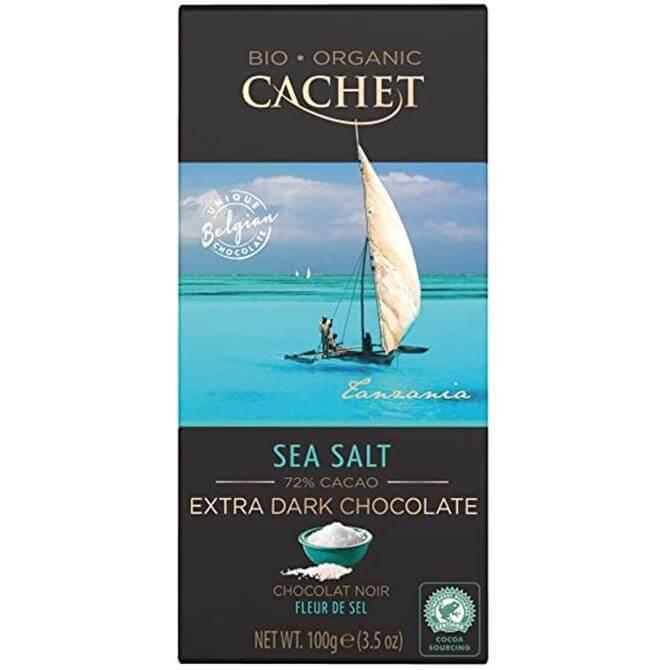 Cachet 72% Dark Chocolate with Sea Salt