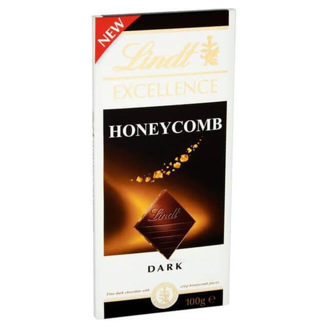 Lindt EXCELLENCE Dark Honeycomb Bar 100g