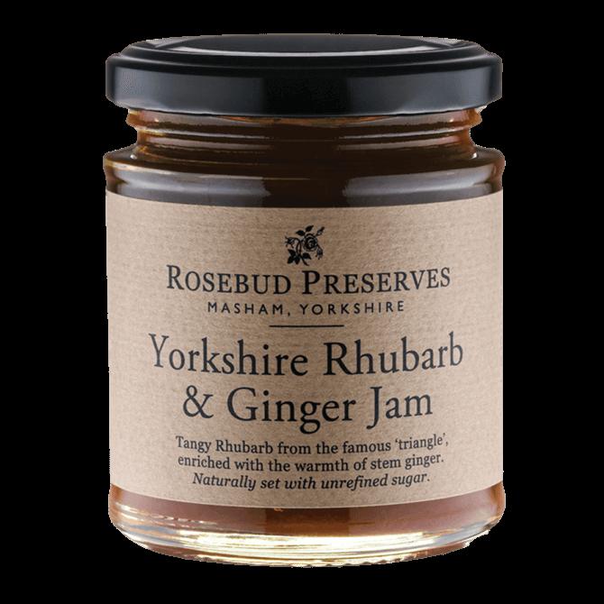 Rosebud Preserves Rhubarb & Ginger Jam 227g