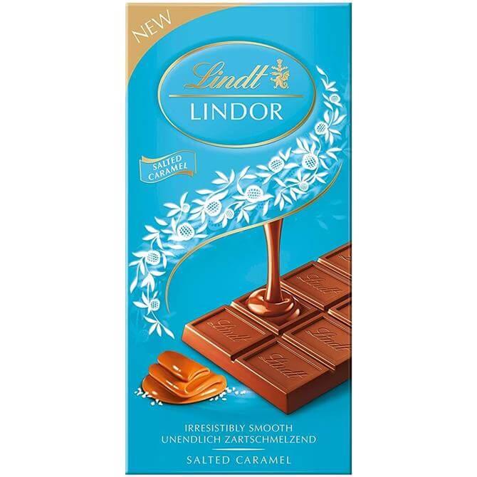 Lindt LINDOR Salted Caramel Bar 100g