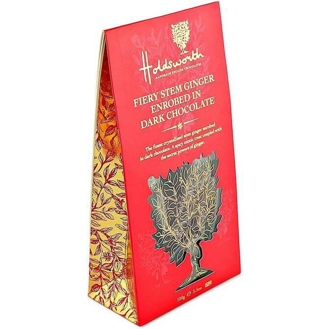 Holdsworth Fiery Stem Ginger Enrobed in Dark Chocolate, 100g