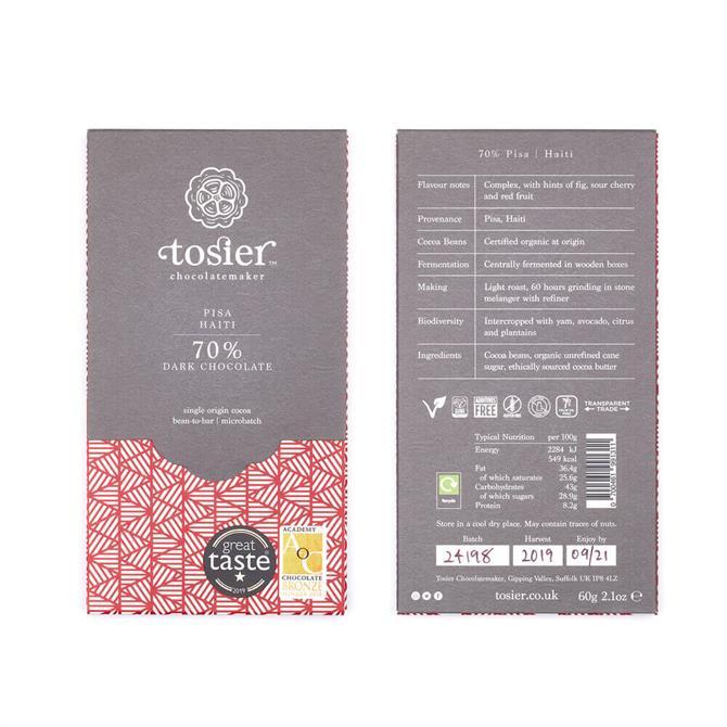 Tosier 70% PISA Dark Chocolate