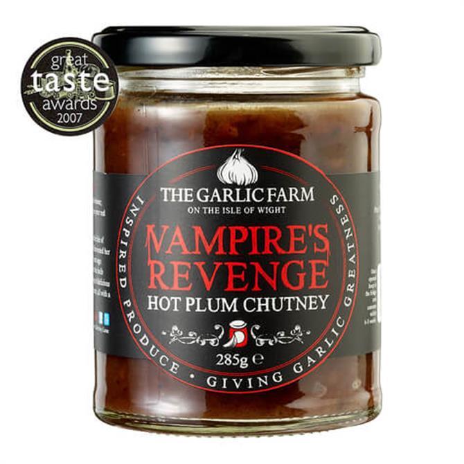 The Garlic Farm Vampire's Revenge  Hot Plum Chutney 285g