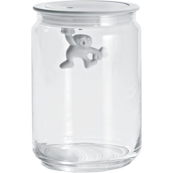 Alessi Gianni Glass Jar White