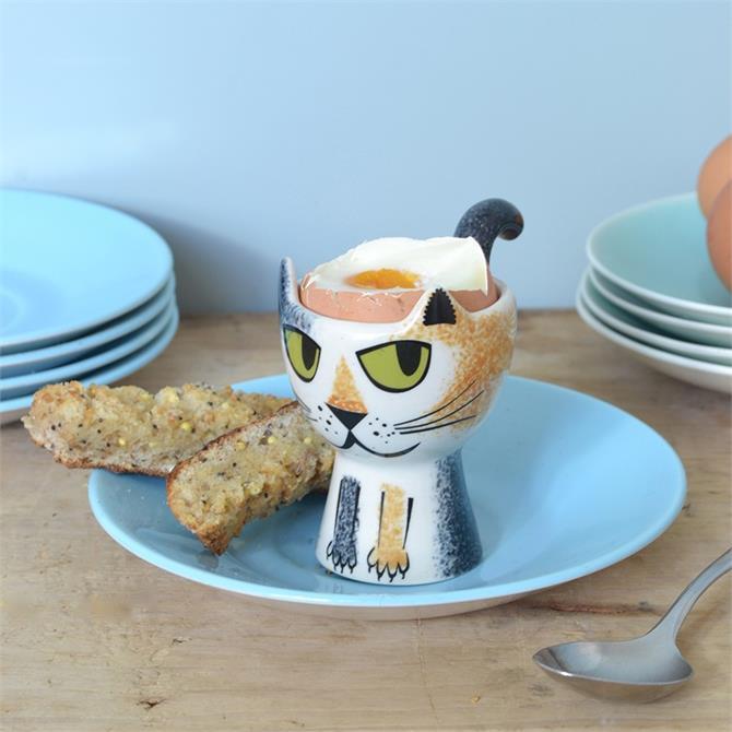 Hannah Turner Egg Cup - Tortoiseshell Cat