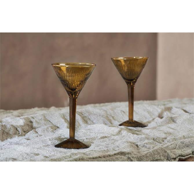 Nkuku Mila Burnt Amber Cocktail Glass