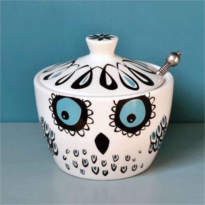 Hannah Turner Small Pot with Lid - Owl
