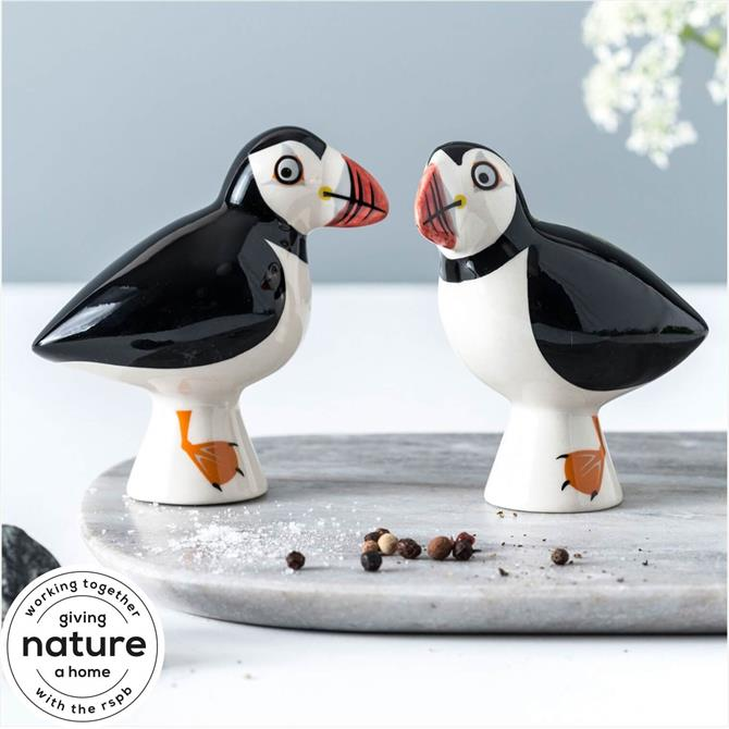 Hannah Turner Salt and Pepper Shakers - Puffin