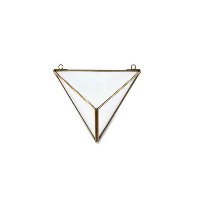 Nkuku Karana Wall Hung Triangle Planter