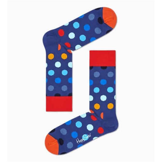 HappySocks Dark Blue Big Dot Socks