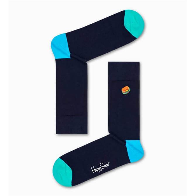 Happy Socks  Embroidered Hamburger Socks